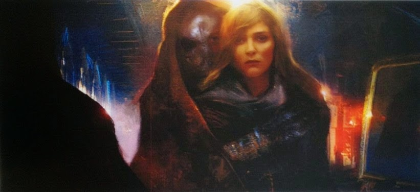 Il personaggi di Sydow insieme a Rey.