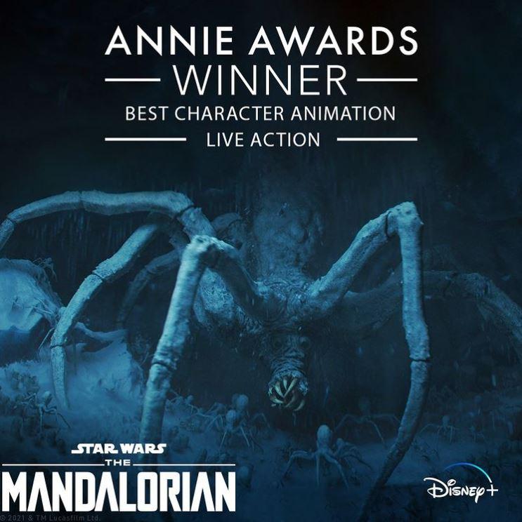 Star Wars The Mandalorian Annie Award