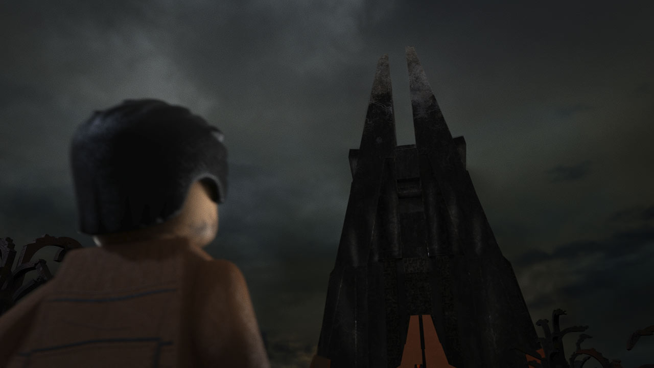 LEGO Star Wars Poe Dameron davanti a Fortezza Vader